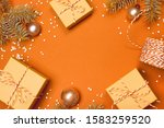 christmas composition with... | Shutterstock . vector #1583259520