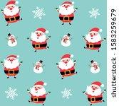 happy santa claus character... | Shutterstock .eps vector #1583259679