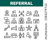 referral marketing collection... | Shutterstock .eps vector #1583279710
