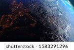 3d rendering earth with world... | Shutterstock . vector #1583291296