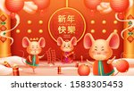 group of rat or mouse and happy ...   Shutterstock .eps vector #1583305453