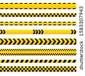 abstract caution tape  yellow...   Shutterstock .eps vector #1583307943