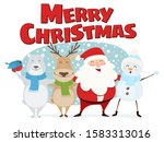merry christmas cute... | Shutterstock .eps vector #1583313016