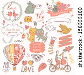 vintage love collection ... | Shutterstock .eps vector #158333180