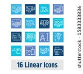 webdesign icon set and website...