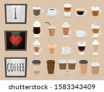 collection of glasses with... | Shutterstock .eps vector #1583343409