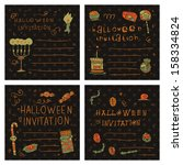halloween party postcard... | Shutterstock .eps vector #158334824