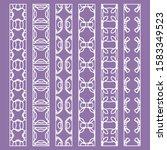 vector set of line borders with ... | Shutterstock .eps vector #1583349523