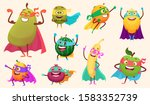 superheroes fruits collection.... | Shutterstock .eps vector #1583352739