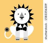 lion drawing doodle  nursery... | Shutterstock .eps vector #1583356309