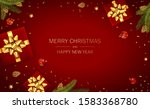christmas balls  holiday gifts... | Shutterstock . vector #1583368780