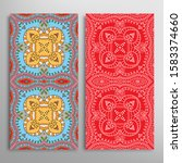 vertical seamless patterns set  ... | Shutterstock .eps vector #1583374660