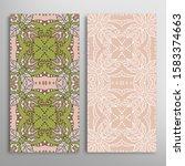vertical seamless patterns set  ... | Shutterstock .eps vector #1583374663