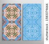 vertical seamless patterns set  ... | Shutterstock .eps vector #1583374666