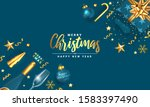modern merry christmas and... | Shutterstock .eps vector #1583397490