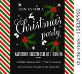 chevrons christmas pattern | Shutterstock .eps vector #158339900