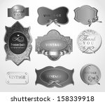 set of retro labels greeting... | Shutterstock .eps vector #158339918