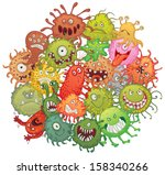 the accumulation of bacteria.... | Shutterstock .eps vector #158340266