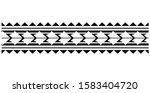 polynesian band tattoo ... | Shutterstock .eps vector #1583404720