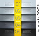 abstract number line  yellow... | Shutterstock .eps vector #158340596