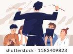 angry boss  irate teacher flat... | Shutterstock .eps vector #1583409823