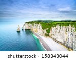 etretat aval cliff  rocks and...