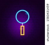 magnifying glass neon sign....