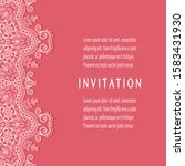 invitation or card template... | Shutterstock .eps vector #1583431930
