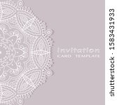 invitation or card template... | Shutterstock .eps vector #1583431933