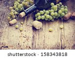 Bottle White Wine Grape Corks - Fine Art prints