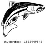 object fishing logo and fish... | Shutterstock .eps vector #1583449546