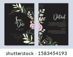wedding invitation designs with ...   Shutterstock .eps vector #1583454193