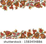 abstract doodle horizontal  two ... | Shutterstock .eps vector #1583454886