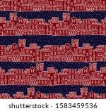 seamless vector border pattern... | Shutterstock .eps vector #1583459536