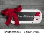 Red Bow On Menu Board With...