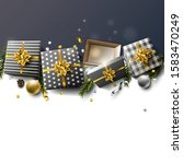 luxury christmas empty... | Shutterstock .eps vector #1583470249