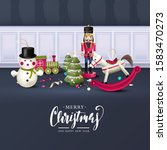 christmas greeting card with... | Shutterstock .eps vector #1583470273