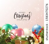 christmas greeting card with... | Shutterstock .eps vector #1583470276