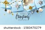 luxury christmas header or... | Shutterstock .eps vector #1583470279
