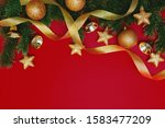 christmas pine tree with xmas... | Shutterstock . vector #1583477209