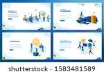 trendy flat illustration. set... | Shutterstock .eps vector #1583481589