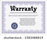 violet warranty. with...   Shutterstock .eps vector #1583488819