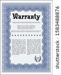 blue formal warranty...   Shutterstock .eps vector #1583488876