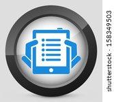 tablet list icon   Shutterstock .eps vector #158349503
