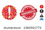 mosaic dangerous conditions... | Shutterstock .eps vector #1583501773