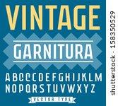 retro type font  vintage... | Shutterstock .eps vector #158350529