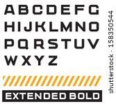 vector alphabet. font  type... | Shutterstock .eps vector #158350544