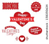 happy valentine's day ornaments | Shutterstock .eps vector #158350634