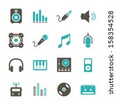 music icon   color   Shutterstock .eps vector #158354528