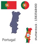 portugal silhouette and flag... | Shutterstock .eps vector #1583568400